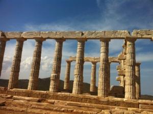 Athènes temple de Poséidon au Cap Sounion