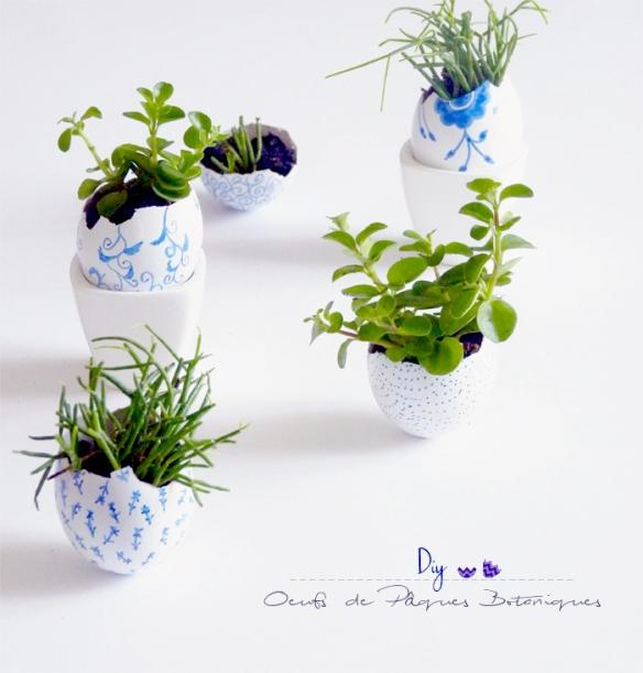 paques oeufs effet porcelaine
