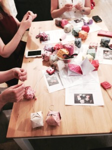 Atelier guirlande origami
