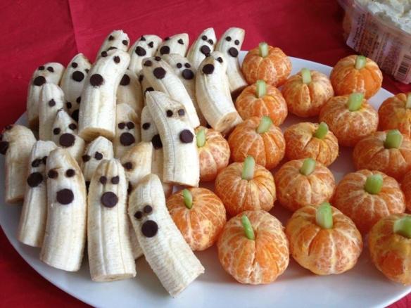 halloween fantome et citrouille