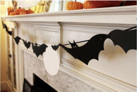 halloween guirlande chauves souris photo