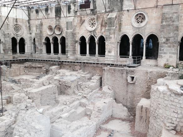 lisbonne la sé fouille archéologique
