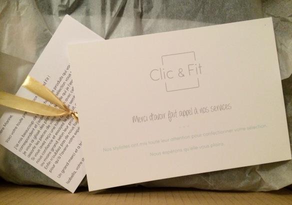clic and fit ouverture de box